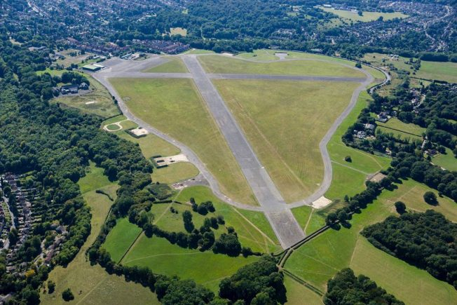 Aerial image of RAF Kenley today