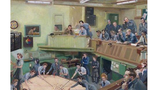 Ops Room, RAF Kenley 1943 Lilian Ruth Antrobus Buchanan