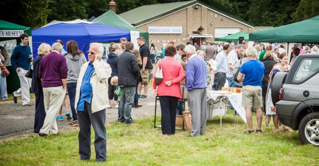 Image of Kenley Heritage Day 2016 with the Portcullis Club in the backgroung