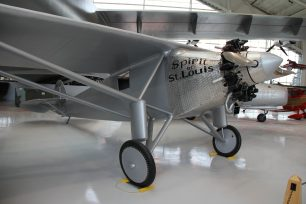 Image of The Spirit of St Louis: the aircraft in which Charles Lindburg made the first solo crossing of the Atlantic Ocean