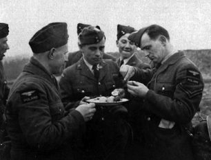 Image of RAF Kenley, Easter 1941. Second from left W. Mordasiewicz (photograph courtesy of Krzysztof Mordasiewicz)