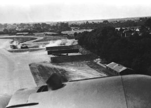 Image taken from a German aircraft during a raid on RAF Kenley