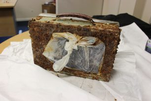Discovered Time Capsule with attached plastic bag