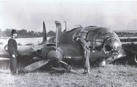 German plane destroyed at Kenley airfield