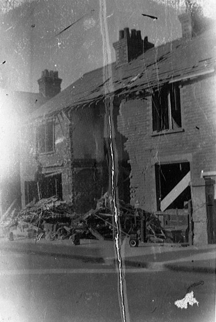 Bomb damaged house