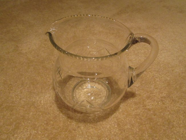 Picture of small glass milk jug