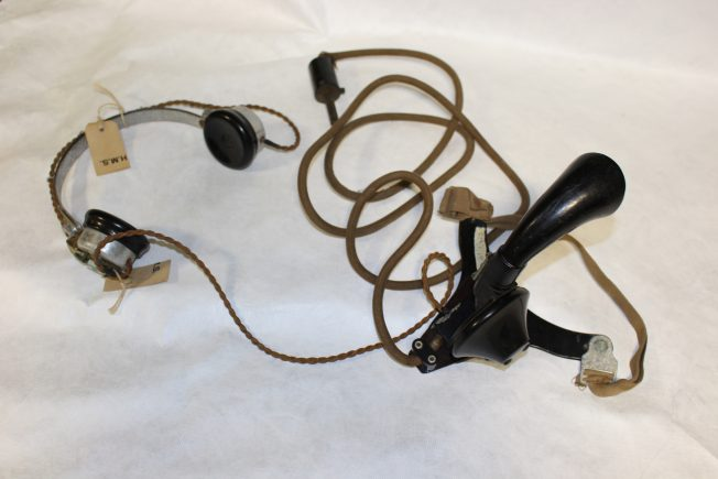 WAAF headset, including headphones and speaker