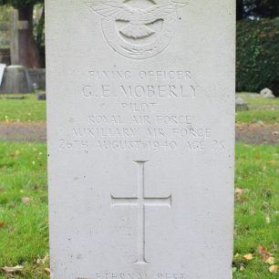 RAF Pilot G. Moberly's grave at St Mary's Church Caterham.