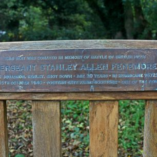 Sgt Fenemore memorial bench plaque