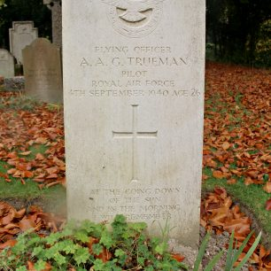 RAF Pilot A. Trueman's grave at St Lukes Church Whytleafe