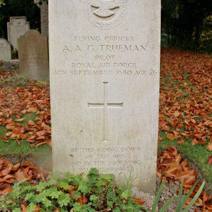 RAF Pilot A. Trueman's grave at St Lukes Church Whytleafe
