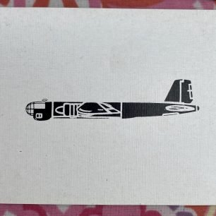 Stan Ford's aircraft recognition playing cards. Air Ministry. Possibly Heinkel 177.  | Stan Ford