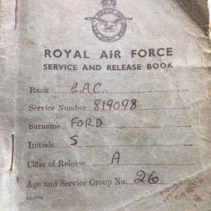 Stan Ford's RAF Service and Release Book. | Stan Ford