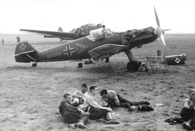 A Bf 109 E-3, c. 1939/1940 in France