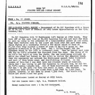 Stanley Fenemore - Crash report   with permission from Stanley Fenemore's family