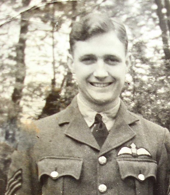 A very proud Eddy in his sergeant pilot's uniform