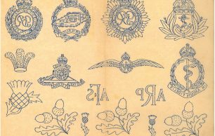 KRP0040 - Military Embroidery Pattern Sheet