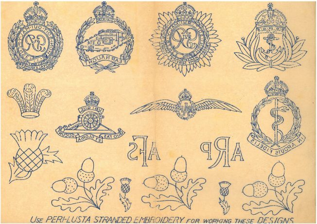 Military Embroidery Pattern Sheet