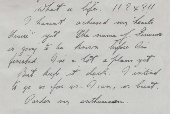 Stanley Fenemore's Letter to his Aunt | Janet Carter