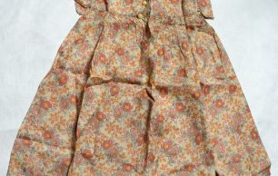 KRP0025 - Girl's Handmade Floral Dress and Pantaloons