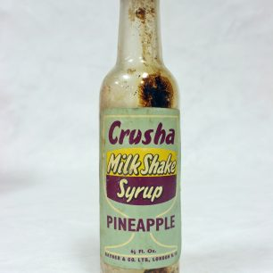 Glass 'Crusha' Bottle, Pineapple Flavoured
