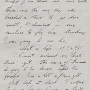 Personal letter 2 - Stanley Fenemore to his aunty | with permission from Stanley Fenemore's family