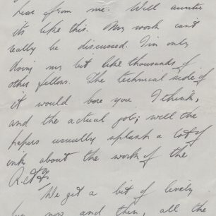 Personal letter 3 from Stanley Fenemore to his aunty | with permission from Stanley Fenemore's family