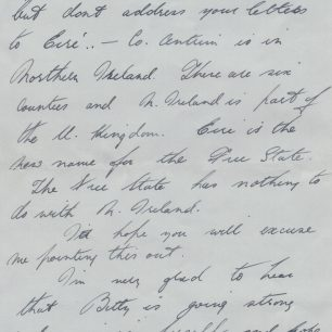 Personal letter 4- Stanley Fenemore to his aunty | with permission from Stanley Fenemore's family