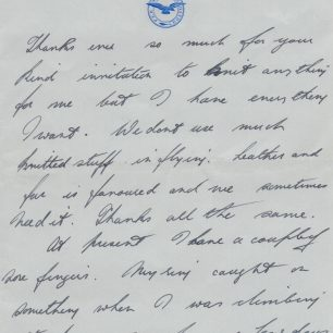 Personal letter 5 Stanley Fenemore to his aunty | with permission from Stanley Fenemore's family