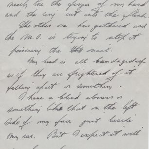 Personal letter 6 from Stanley Fenemore to his aunty | with permission from Stanley Fenemore's family