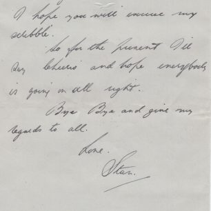 Personal letter 7 from Stanley Fenemore to his aunty   with permission from Stanley Fenemore's family