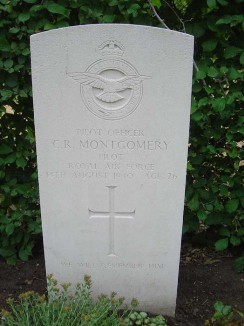 Cecil Montgomery's grave in France