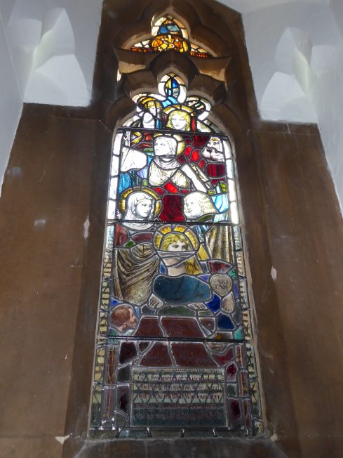 Window in St Luke's commemorating the bombing of the church in 1940