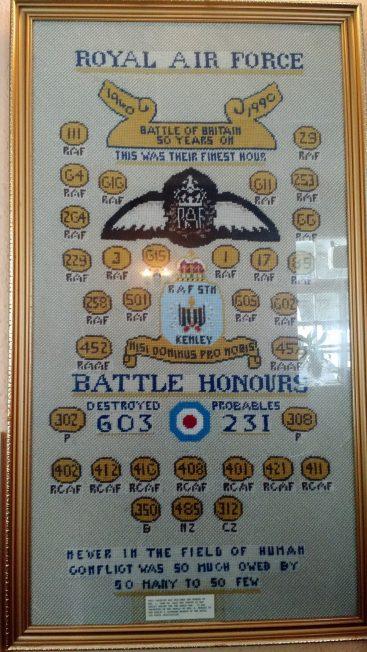 RAF tapestry | RAFA Kenley & Caterham Branch