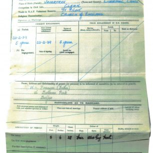 Stanley Fenemore - war record   with permission from Stanley Fenemore's family