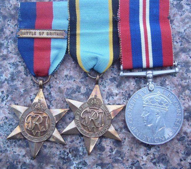 The medals of Sergeant pilot Stanley Allen Fenemore, 745110 RAFVR, 1920 – 1940