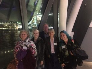 (left to right) Sarah Berke, Amy Todd, Phil Bonwick, Carol Tysall and Marie Tulley-Rose