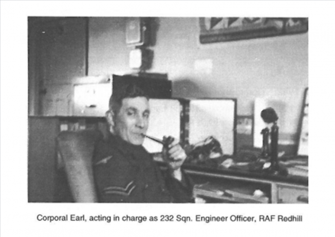 Corporal Earl, at RAF Redhill | The Bourne Society