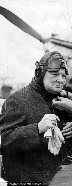 Churchill sporting flight attire
