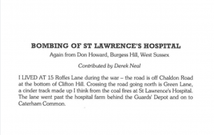 The Bourne Society Bulletin 201 - Bombing of St. Lawrence's Hospital
