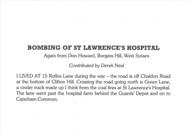 Bombing of St. Lawrence's Hospital | The Bourne Society