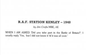 The Bourne Society Bulletin 195 - RAF Station Kenley – 1940