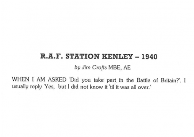RAF Station Kenley 1940 | The Bourne Society