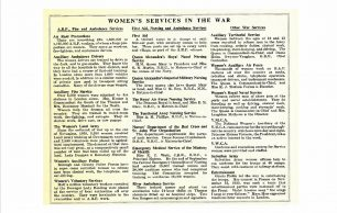 Women's Services in the War