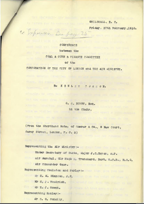 Front Cover of 1920 Meeting Transcript