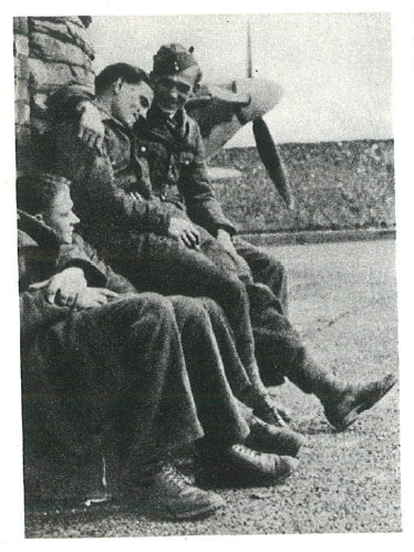 A moment of rest for the sky knights fellowship. Horses and armor ready for boarding - RAF Kenley, April 1941.