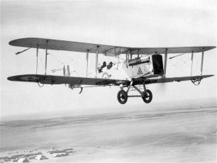 RAF DH.9A flying over the Middle East   Image by Royal Air Force via the website/www.raf.mod.uk