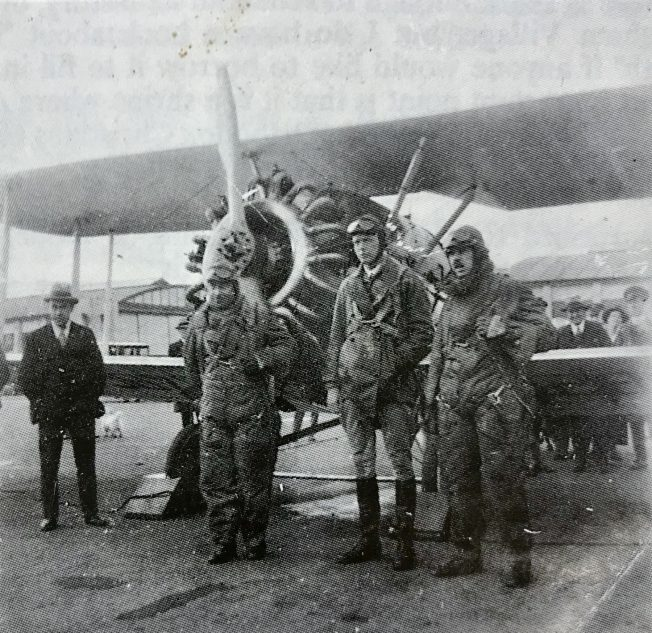 Mr. Bob Sharples photo of Charles Lindbergh at Kenley on 3rd June, 1927.  | East Surrey Museum