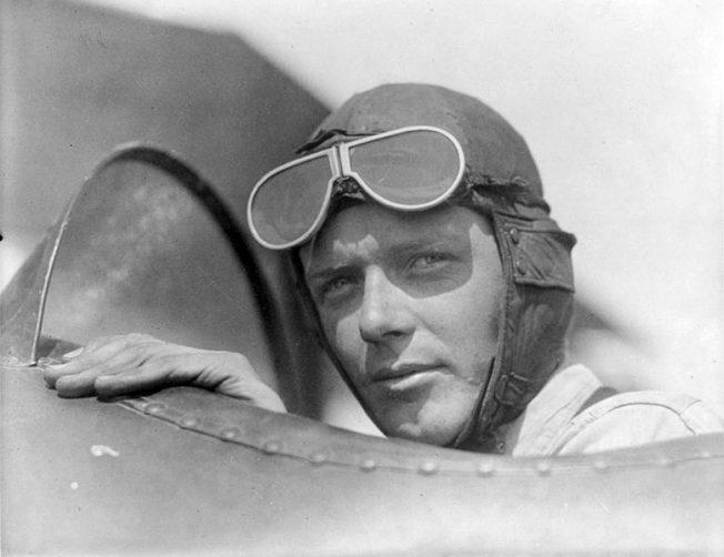Charles Lindbergh at Kenley.