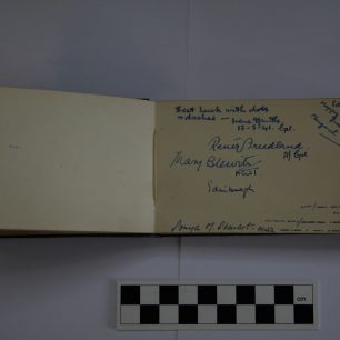 Pages from the autograph book of WAAF M R Morley